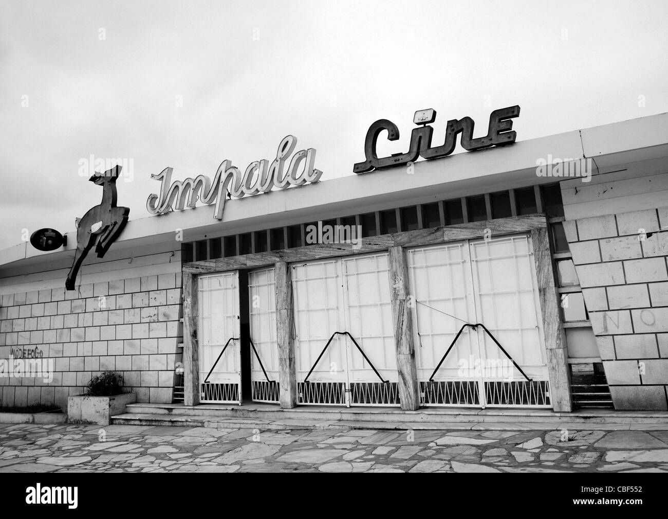 Impala Cinema Theater In Namibe Town, Angola - Stock Image