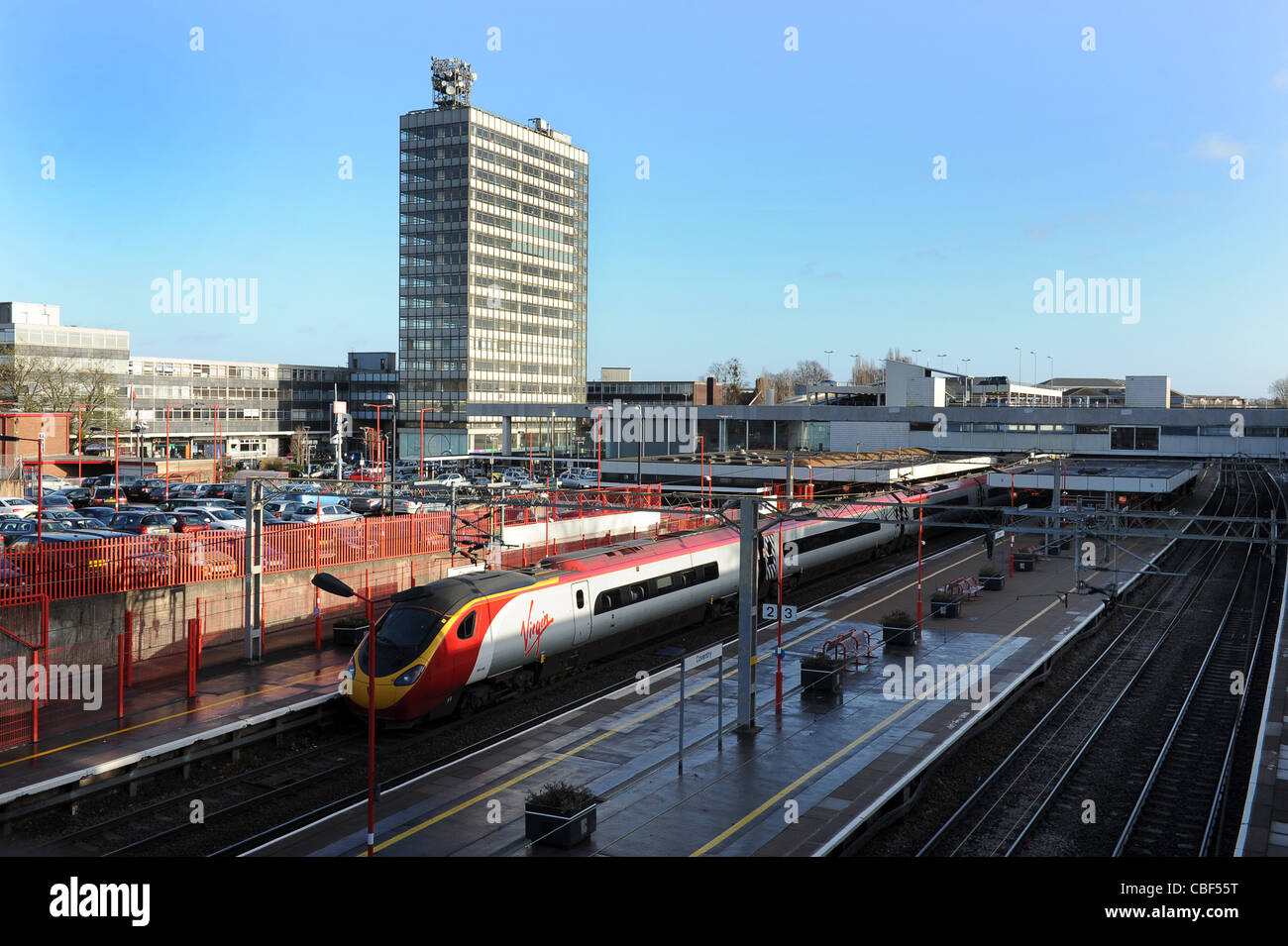 Coventry Railway Station England Uk - Stock Image