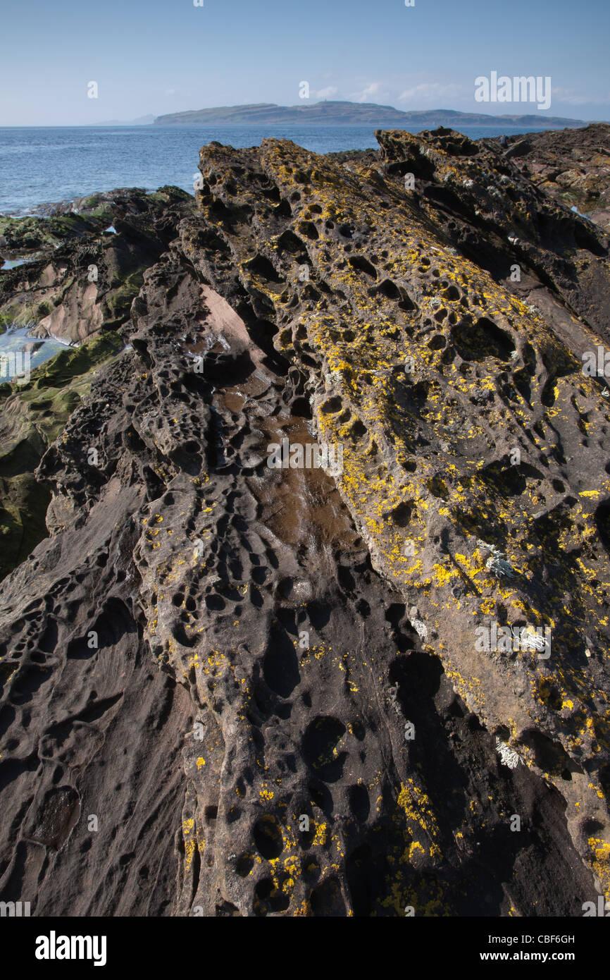 towards lttle cumbrae, west coast of scotland - Stock Image