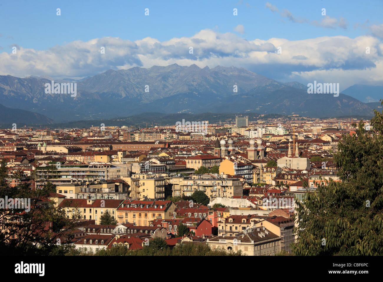 Italy, Piedmont, Turin, general view, skyline, - Stock Image