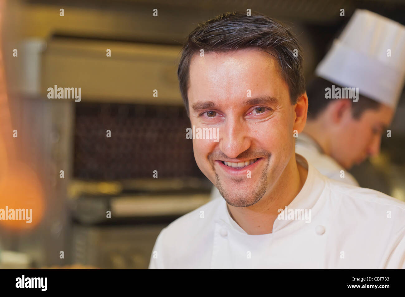Portrait of the Chef, Philippe Mille. , Member of the 'Relais & Châteaux' chain, Les Crayères - Stock Image
