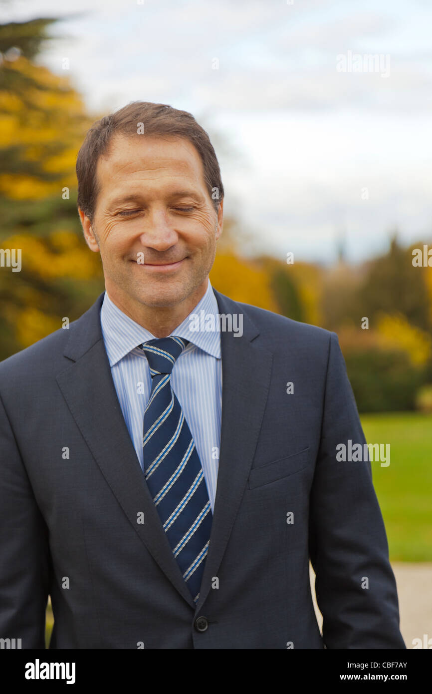 Hervé Fort, manager of the Crayères hotel., Member of the 'Relais & Châteaux' chain, - Stock Image