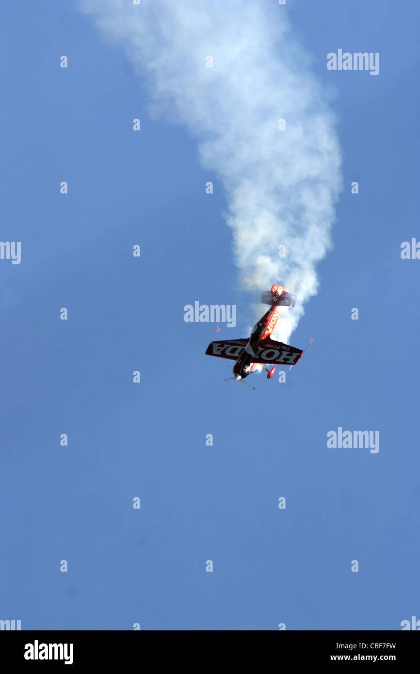 Stunt Plane isle of Wight Stock Photo
