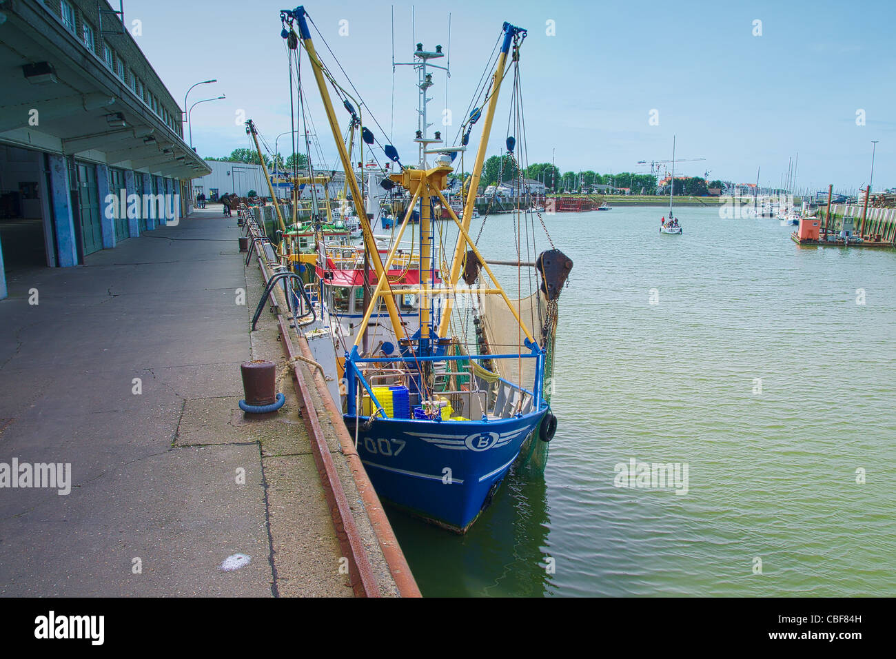 Fishing quota in North Sea forcing fishing boats out of work. - Stock Image