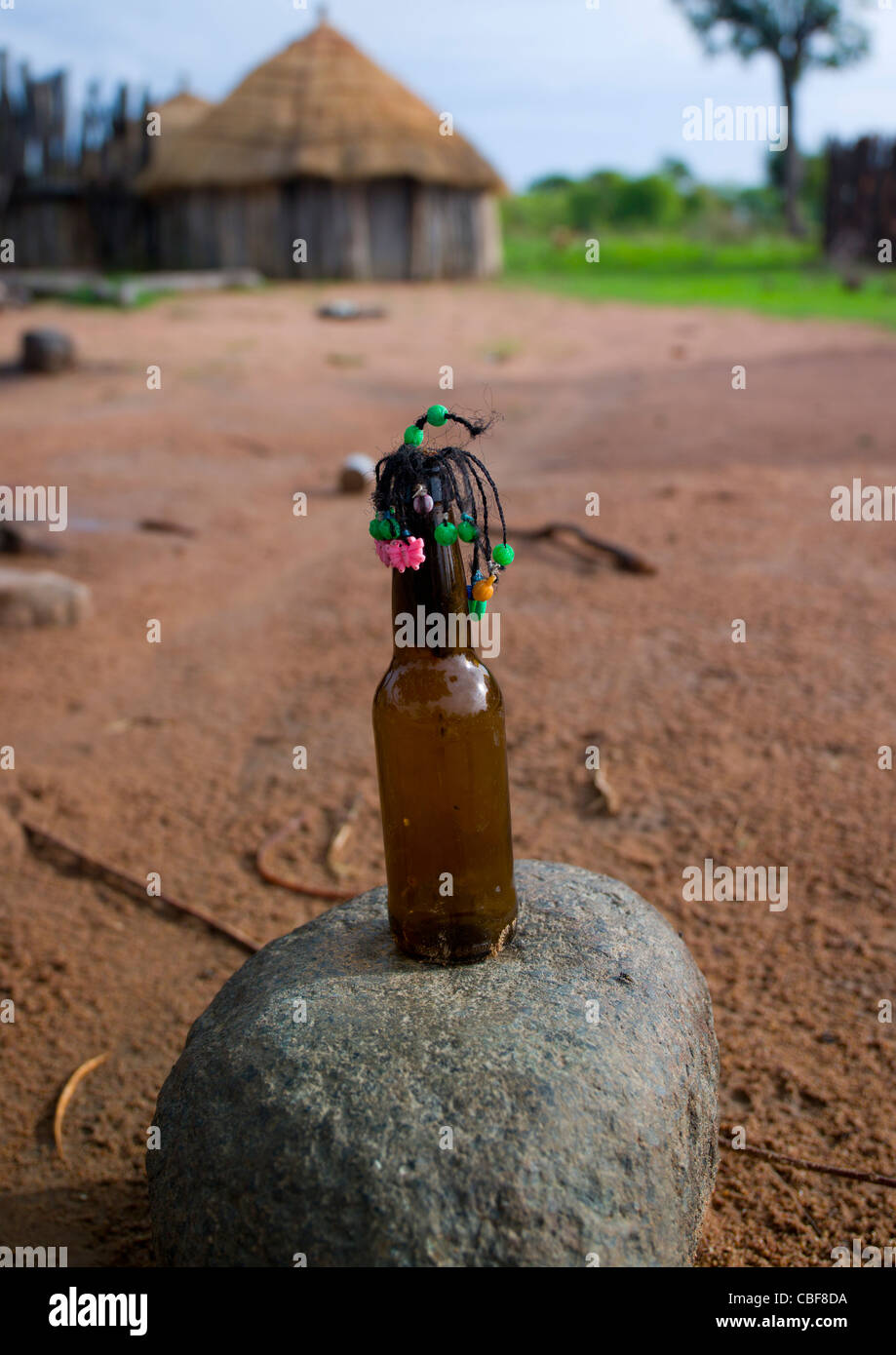 Mwila Doll Made With A Bottle Of Beer, Angola - Stock Image