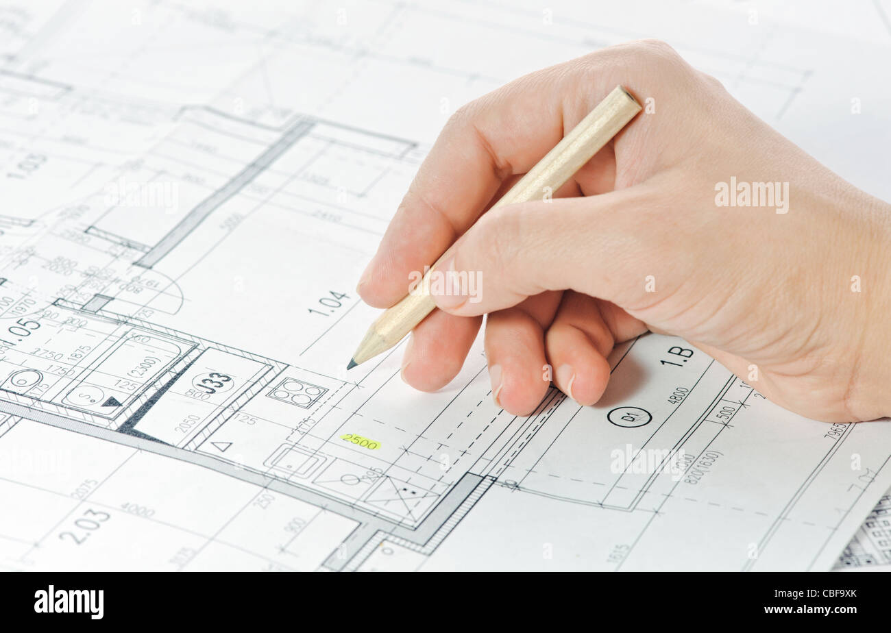 Part of architectural project - Stock Image