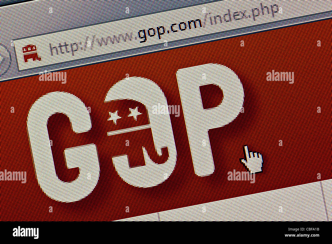 GOP Republican Party US logo and website close up - Stock Image