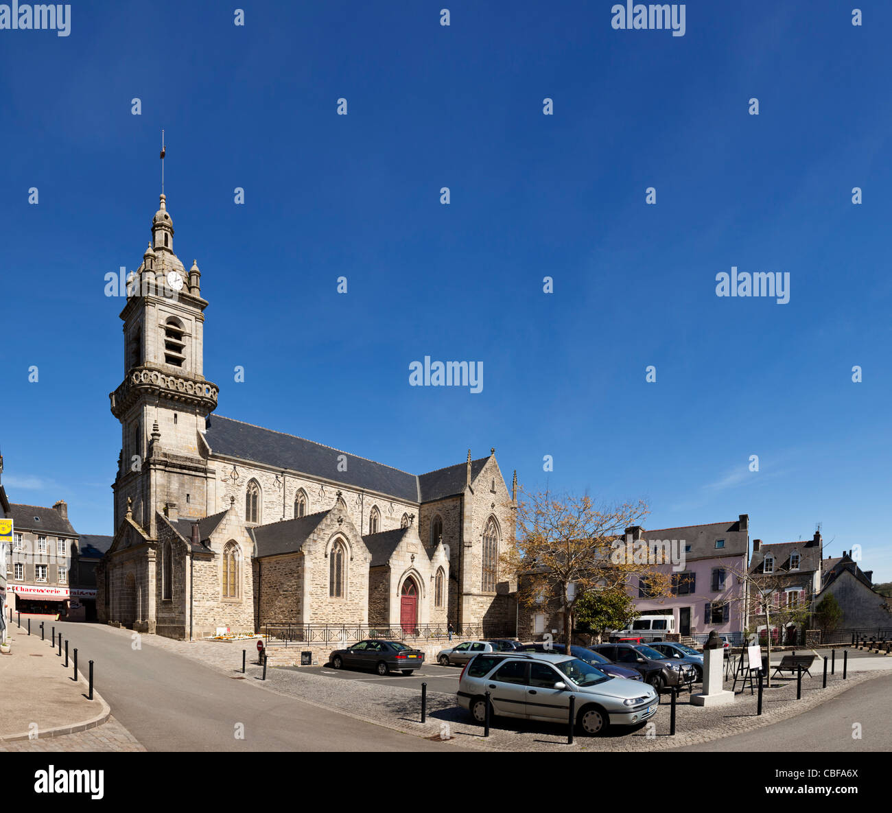 Saint Julien church in Chateauneuf du Faou, Finistere, Brittany, France - Stock Image