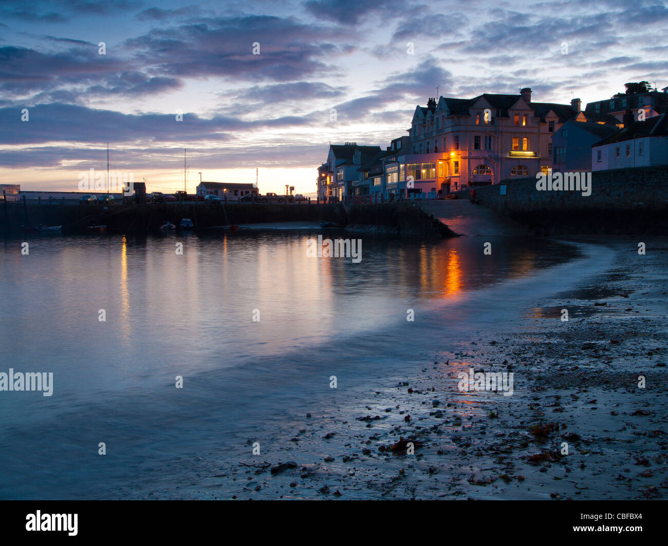 Dusk at St Mawes Cornwall England UK - Stock Image