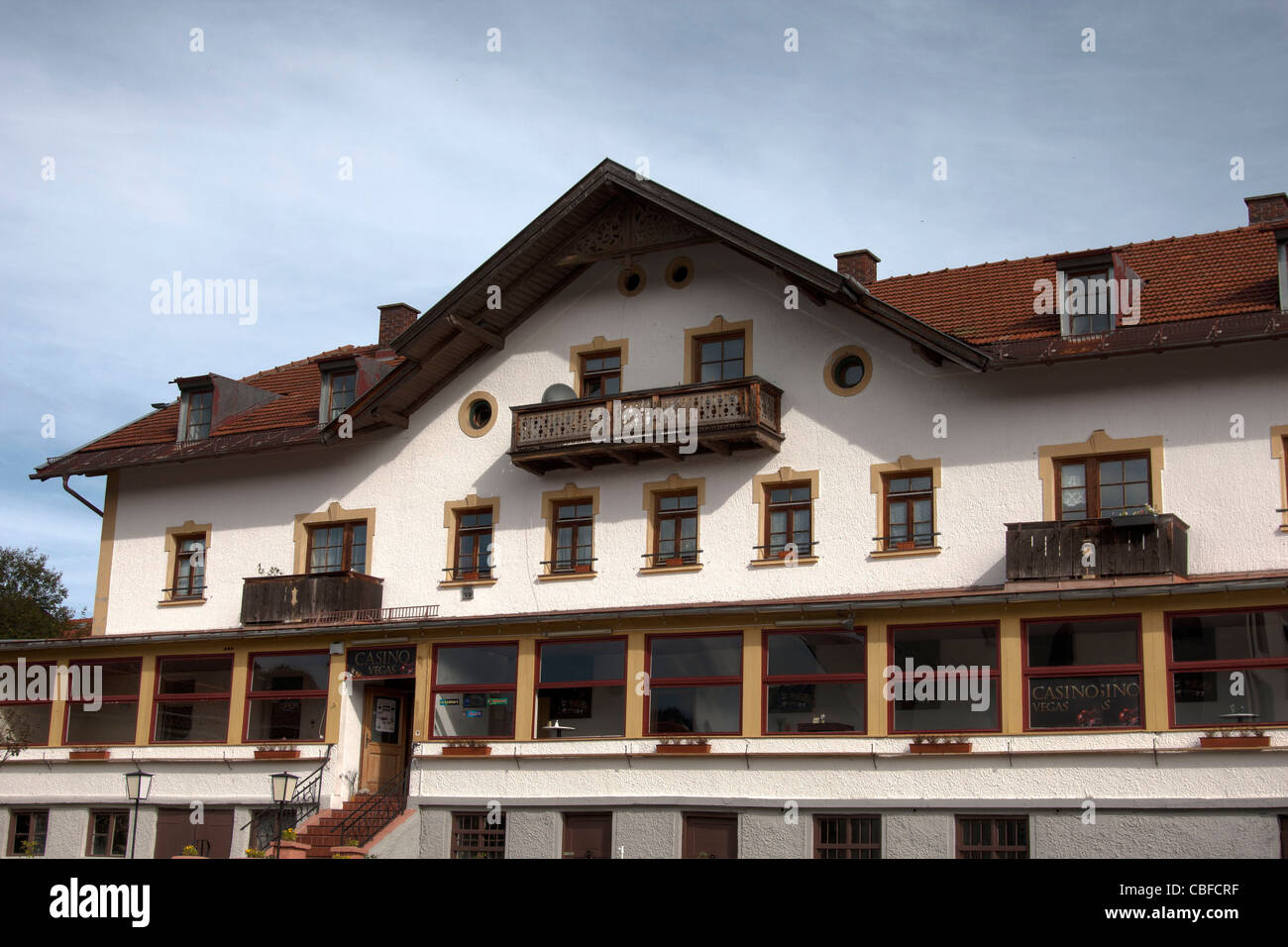 A typical wooden house in Schliersee,Germany. - Stock Image