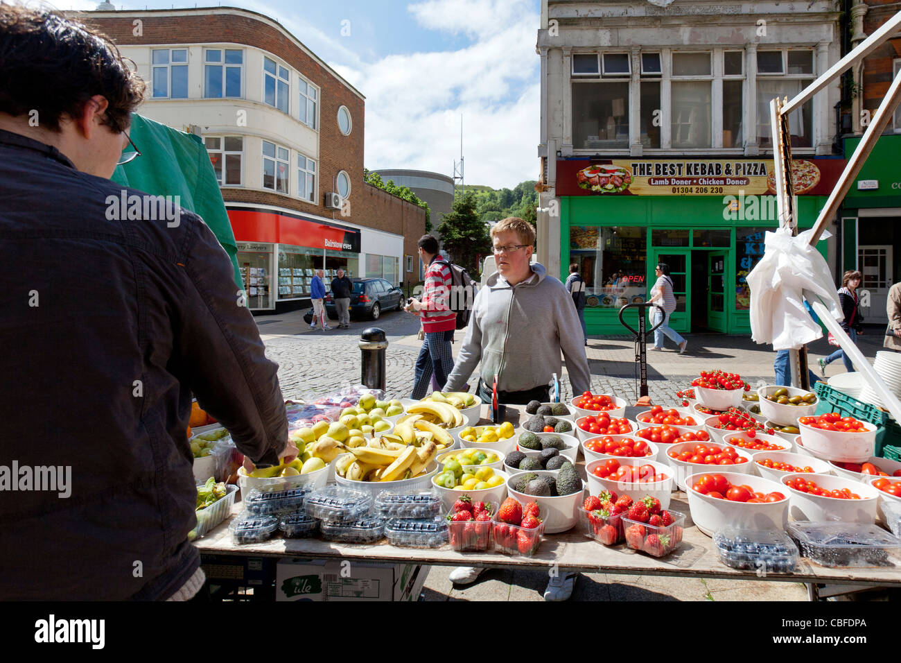 Farmers Vegetable Markets On Cannon Street Dover England