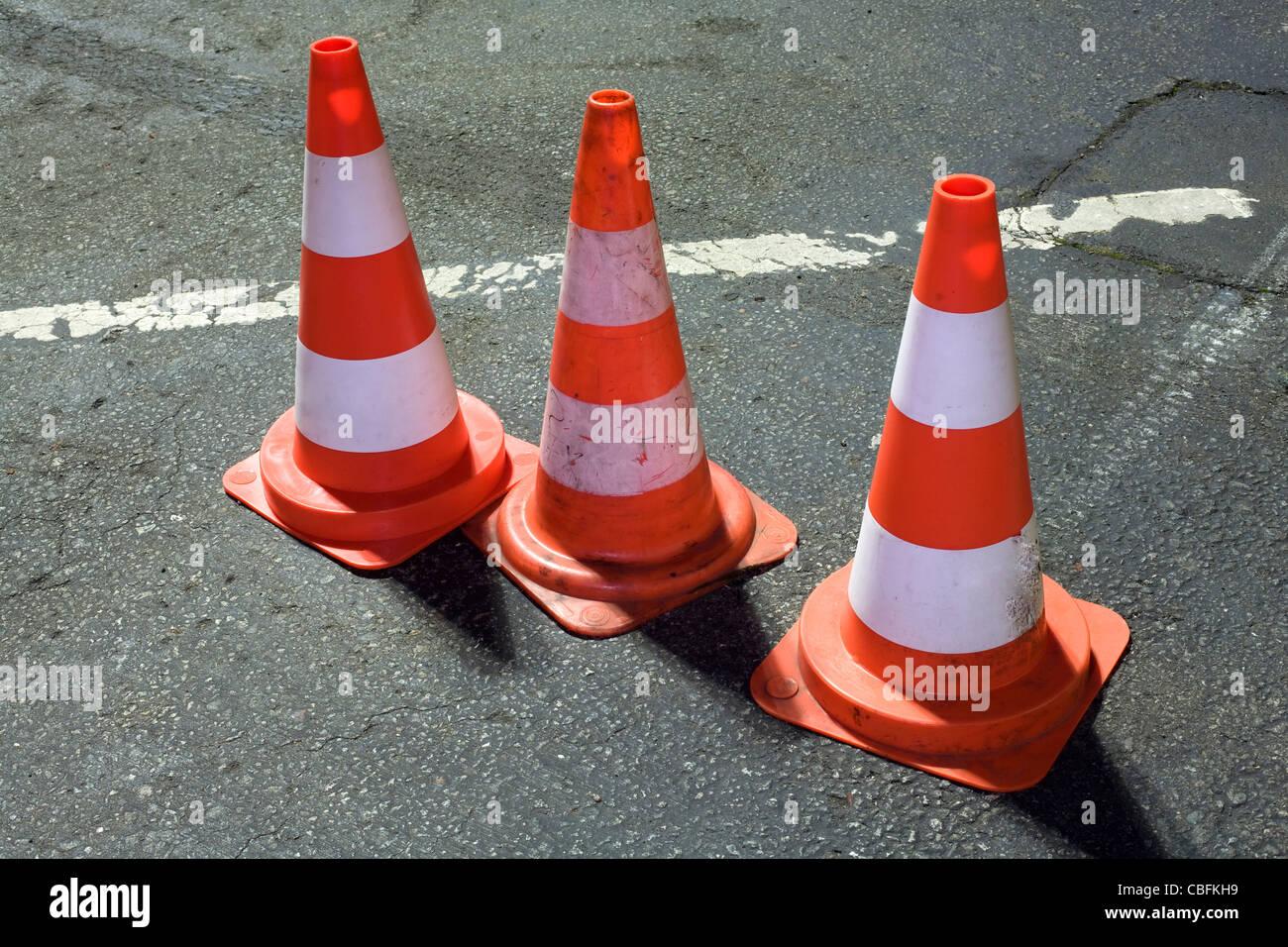 Traffic Cones - Stock Image