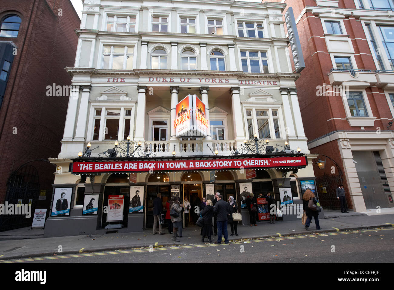 the duke of york's theatre showing backbeat the beatles story in theatreland west end london england uk united - Stock Image