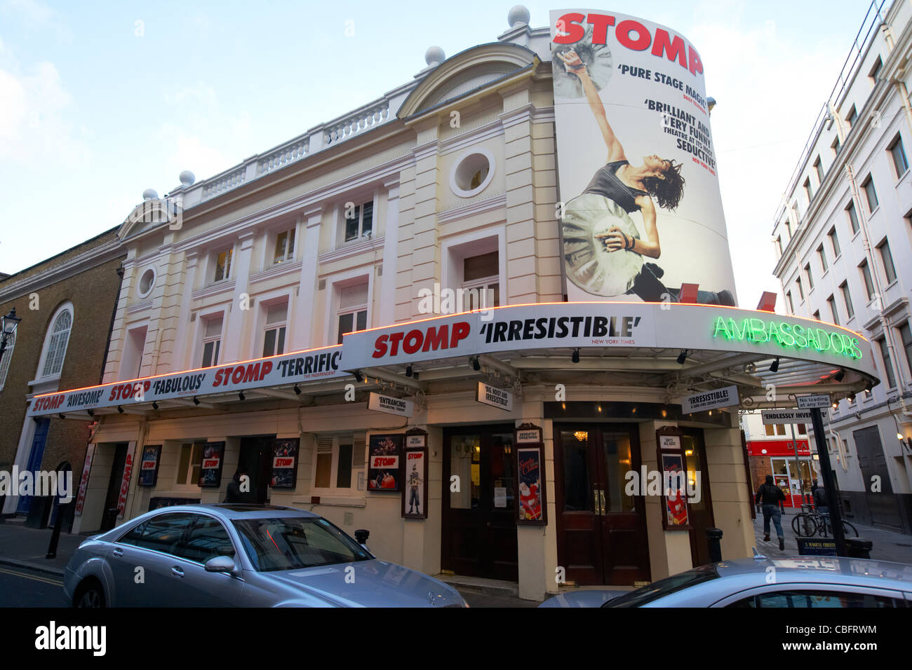 the ambassadors theatre showing stomp in theatreland west end london england uk united kingdom - Stock Image