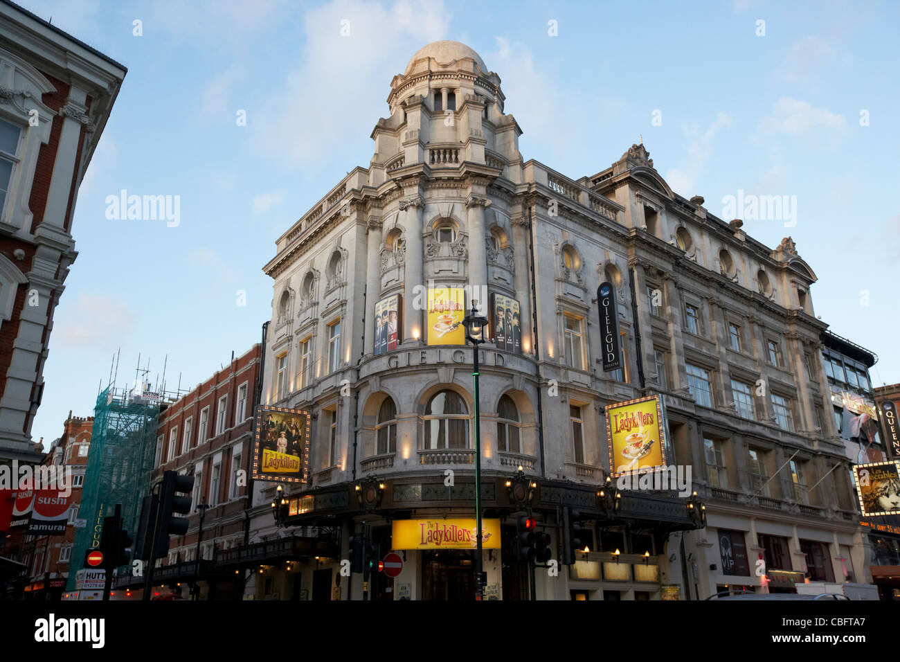 the gielgud theatre showing the ladykillers in theatreland west end london england uk united kingdom - Stock Image