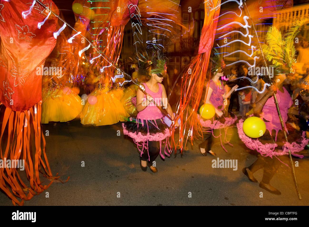 Illuminated, Carnival, Ryde, Isle of Wight, England, UK, - Stock Image