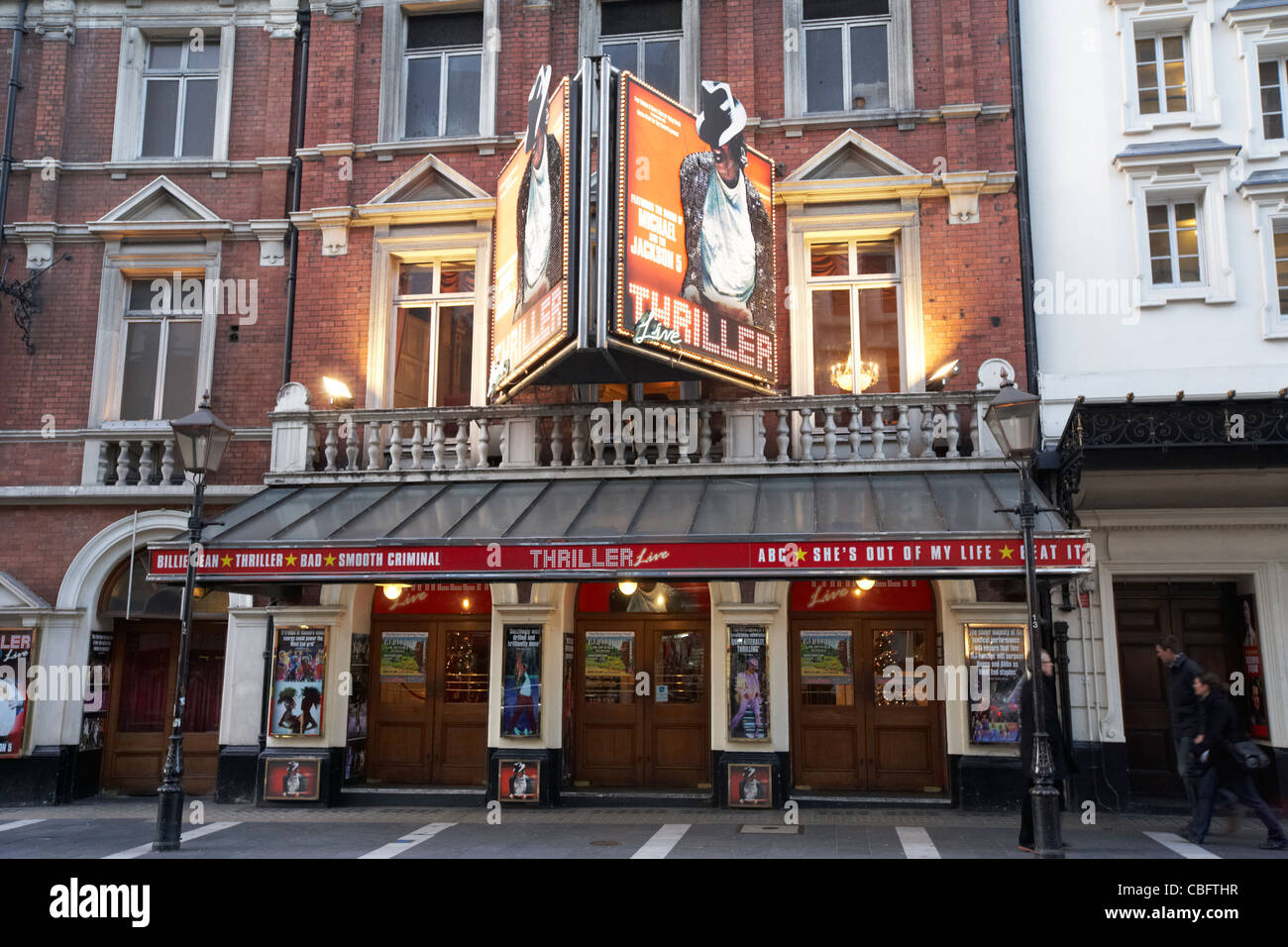 the lyric theatre showing thriller live in theatreland west end london england uk united kingdom - Stock Image
