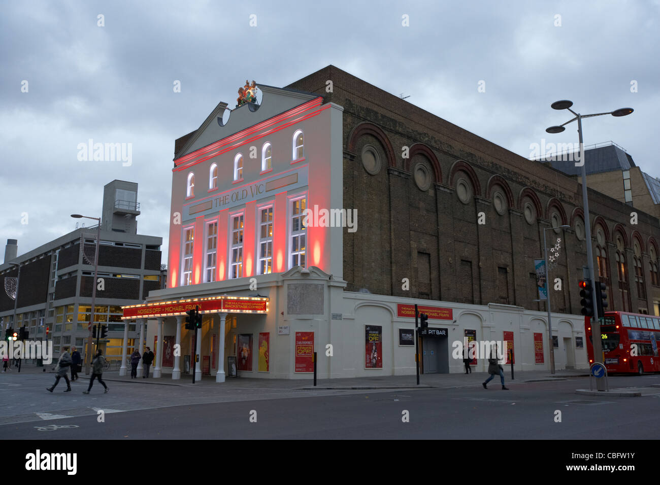 the old vic theatre on the south bank london england uk united kingdom - Stock Image