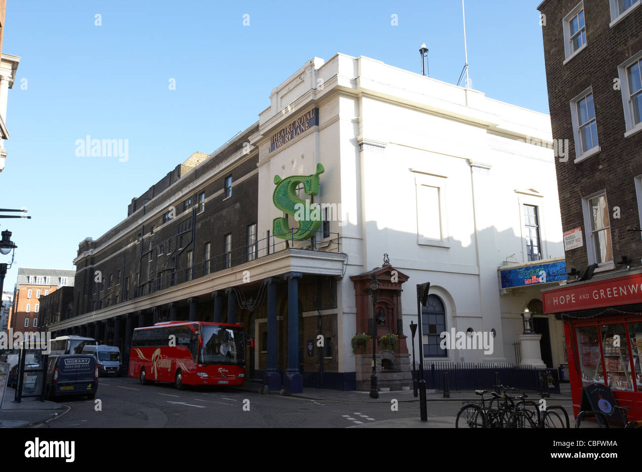 the theatre royal drury lane showing shrek in theatreland west end london england uk united kingdom - Stock Image