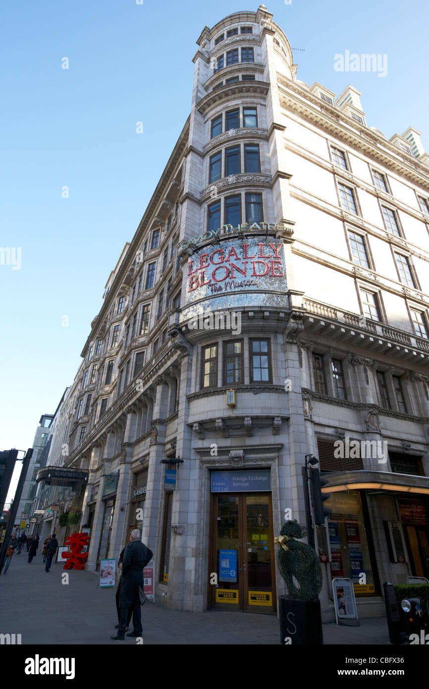 the savoy theatre theatreland west end london england uk united kingdom - Stock Image