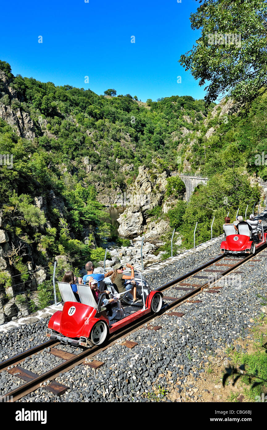 Historic train; the Mastrou, Ardeche, France. - Stock Image