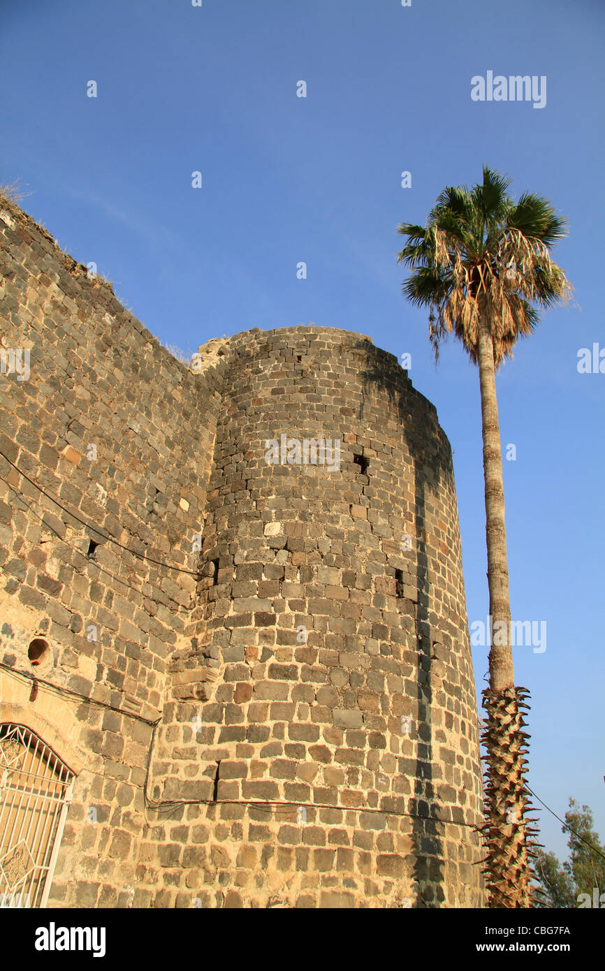 Israel, Sea of Galilee, Tiberias Fortress built in 1745 by the son of Daher el Omar Stock Photo
