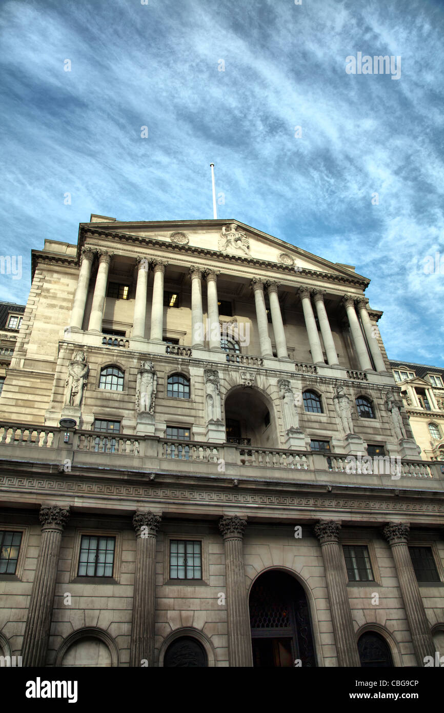 Bank of England in Bank - London Square Mile - Stock Image