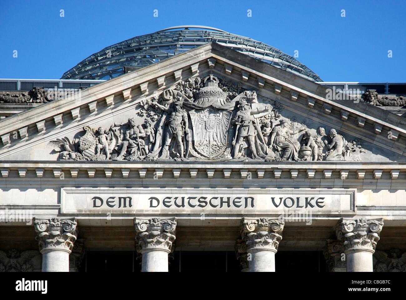 German Reichstag building in Berlin - Seat of the German Federal Parliament Bundestag. - Stock Image