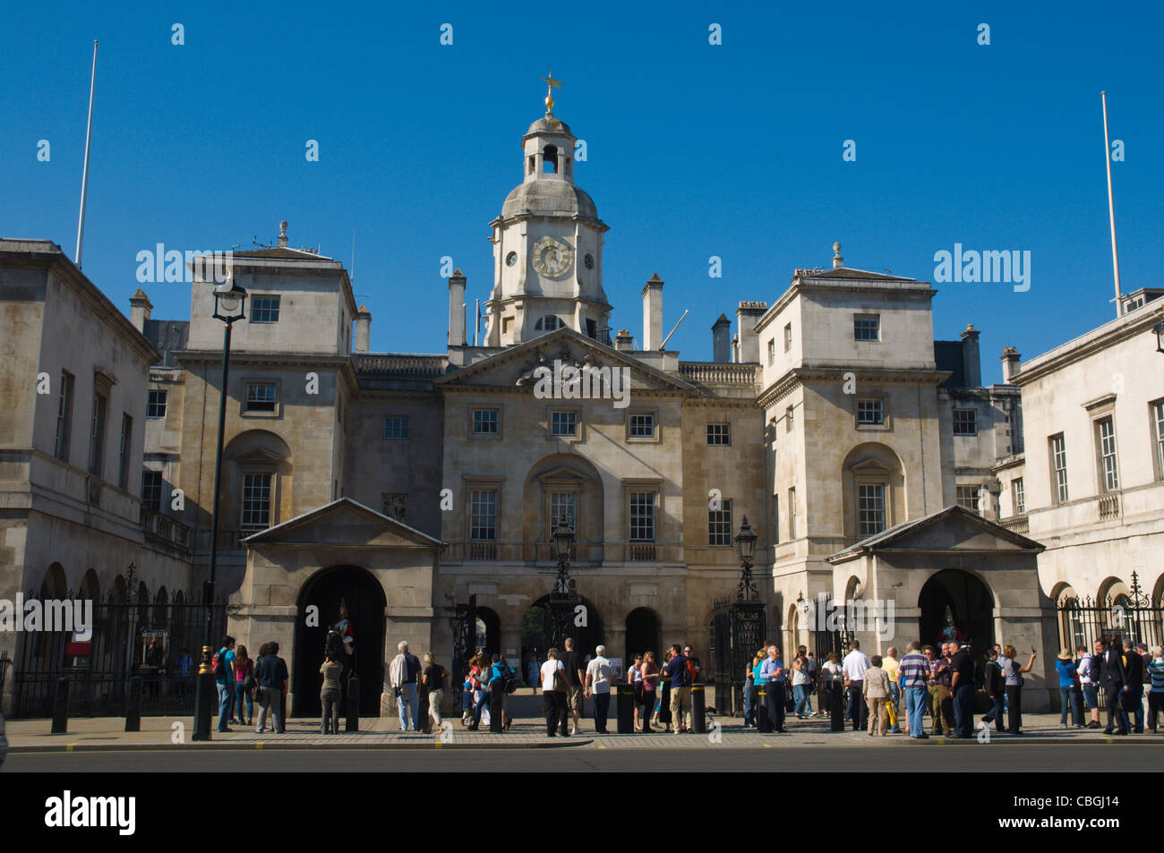 Horse Guards Parade exterior Whitehall street Westminster central London England UK Europe - Stock Image