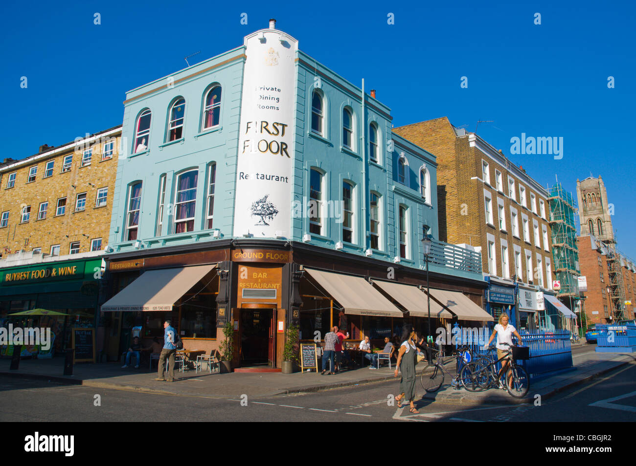 Portobello Road on Thursday when no market is held Notting Hill district London England UK Europe - Stock Image