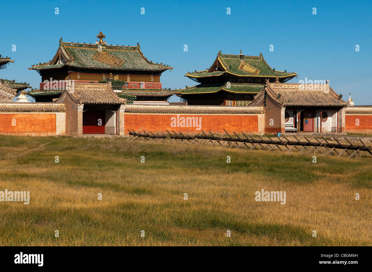 Erdene Zuu (Karakorum) Monastery in Central Mongolia - Stock Image