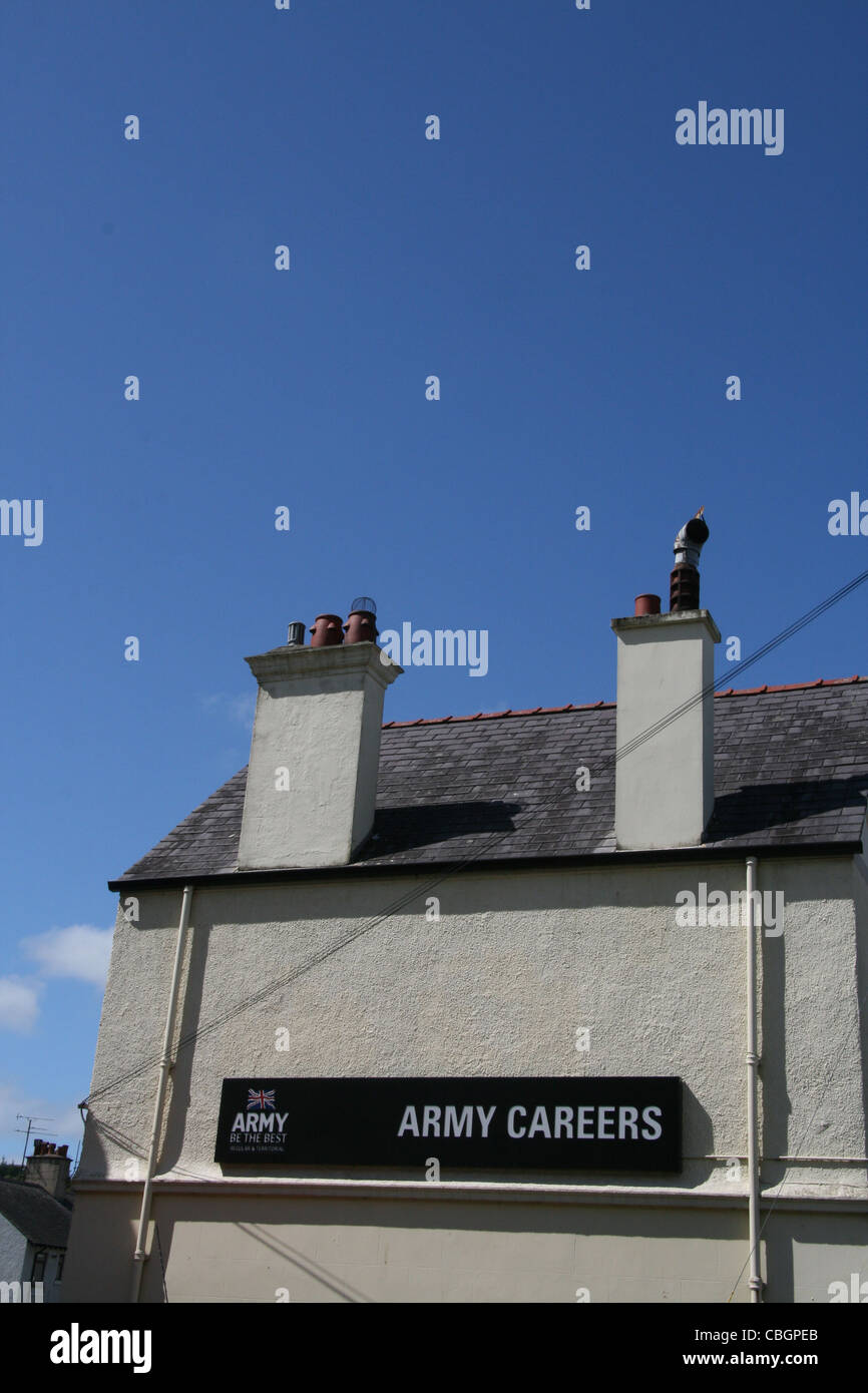 british army careers office in bangor wales great britain uk - Stock Image