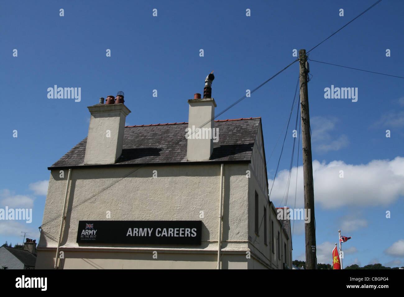 british army careers office in bangor wales great britain uk - Stock Image