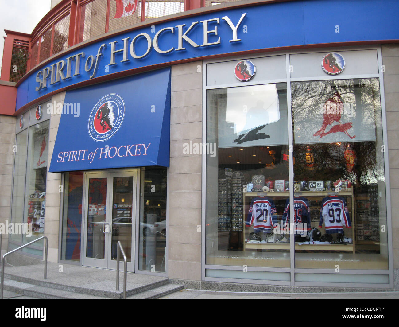 HOCKEY HALL OF FAME, Toronto. Shop attached to the museum. Photo Tony Gale - Stock Image