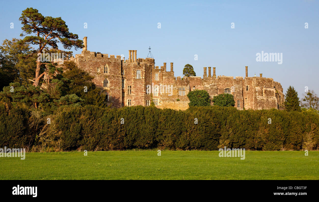 Berkeley Castle in Gloucestershire site of the murder of Edward II - Stock Image