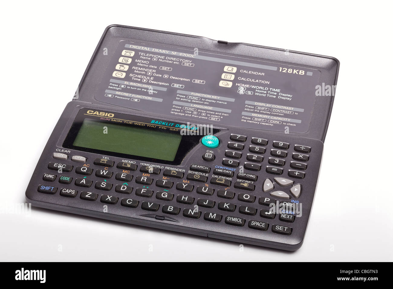 Casio SF-4900C digital diary and organiser from the 1990s - Stock Image