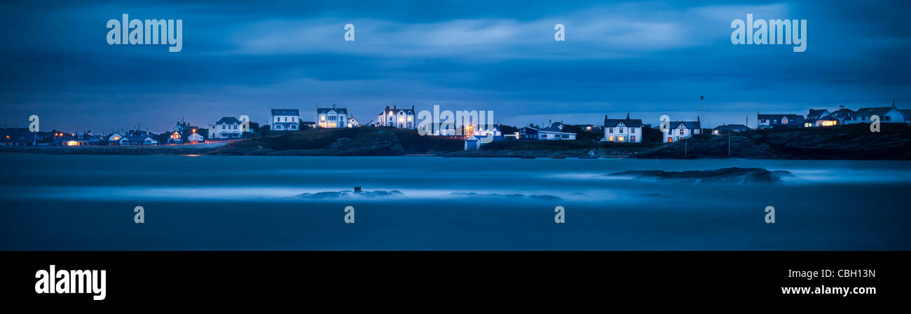 A Welsh seascape, taken at Trearddur Bay, Anglesey, Wales - Stock Image