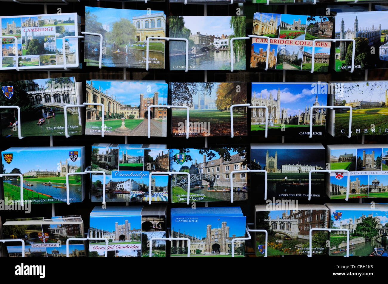 Postcards of Cambridge, Cambridge, England, UK - Stock Image