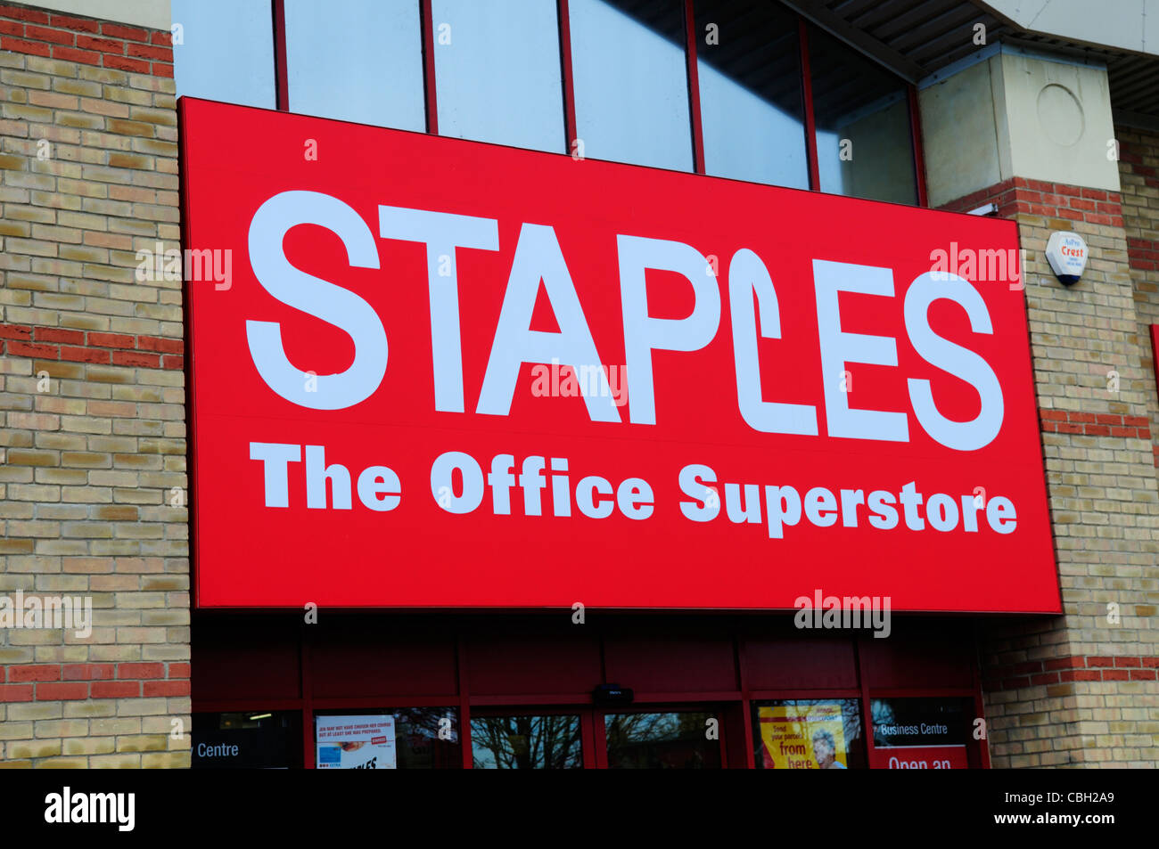 Staples The Office Superstore Sign, Cambridge, England, UK - Stock Image