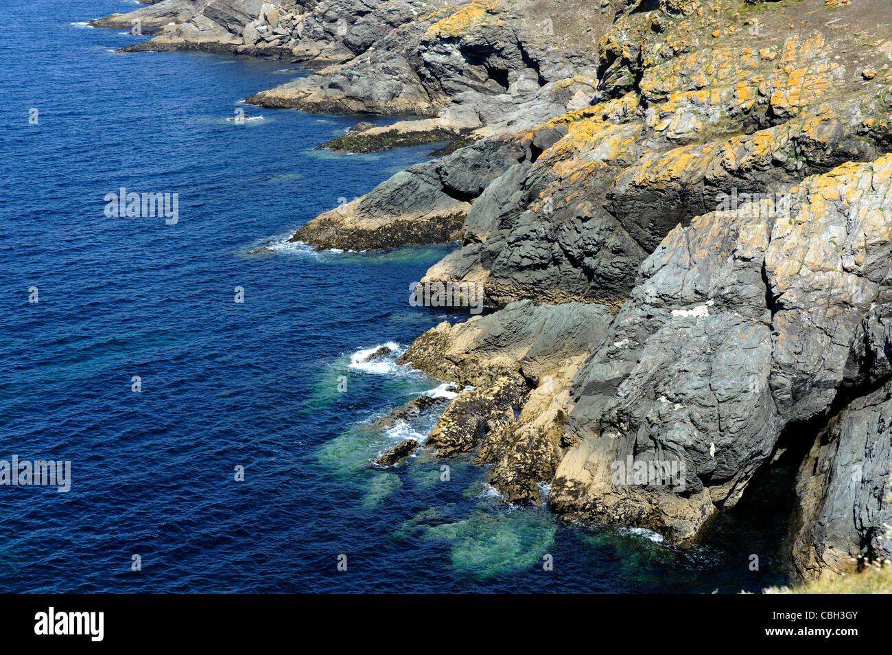 Trou de l'Enfer,Ile de Groix,Island,Morbihan,Bretagne,Brittany,France Stock Photo