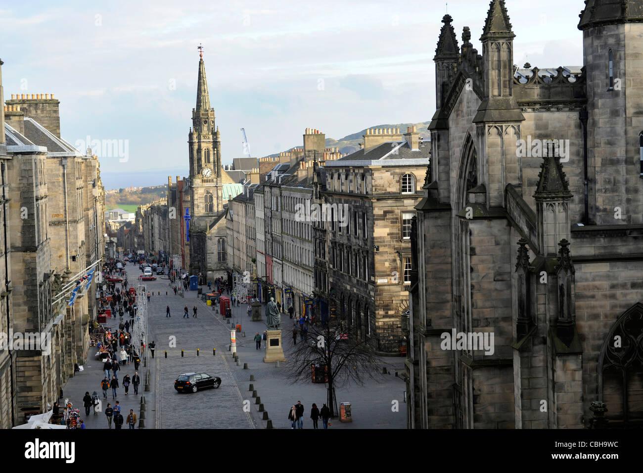 Royal Mile, Edinburgh, Scotland. - Stock Image