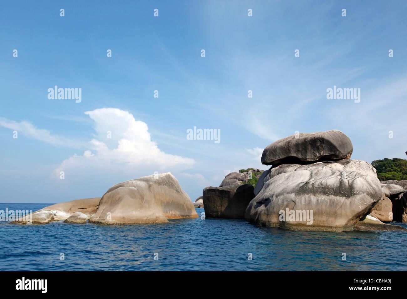 Similan island in the Similan Islands, Phang-Nga, near Phuket, Thailand - Stock Image