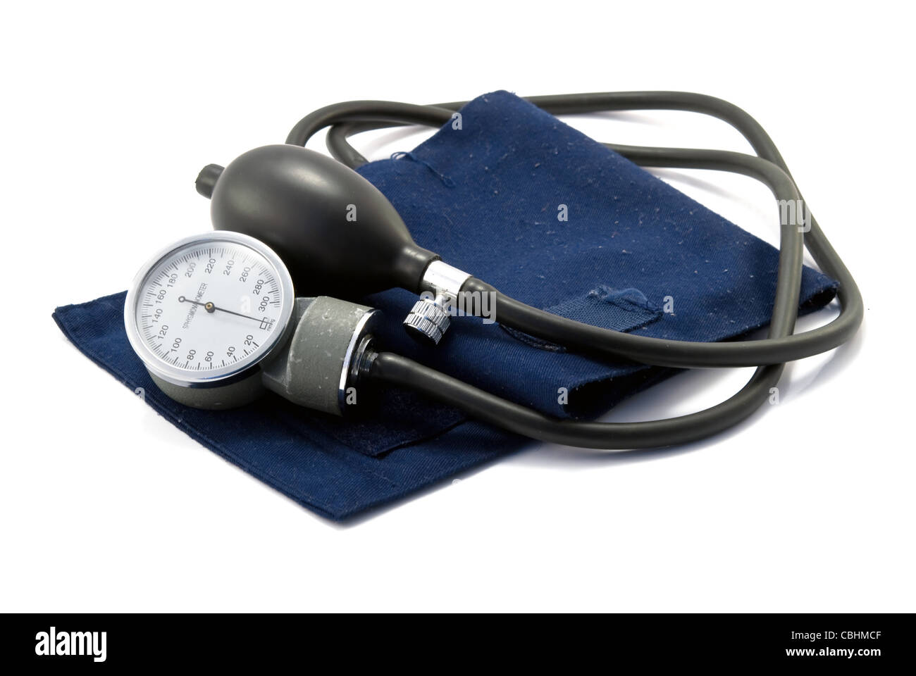 sphygmomanometer, the instrument used to measure blood pressure, - Stock Image