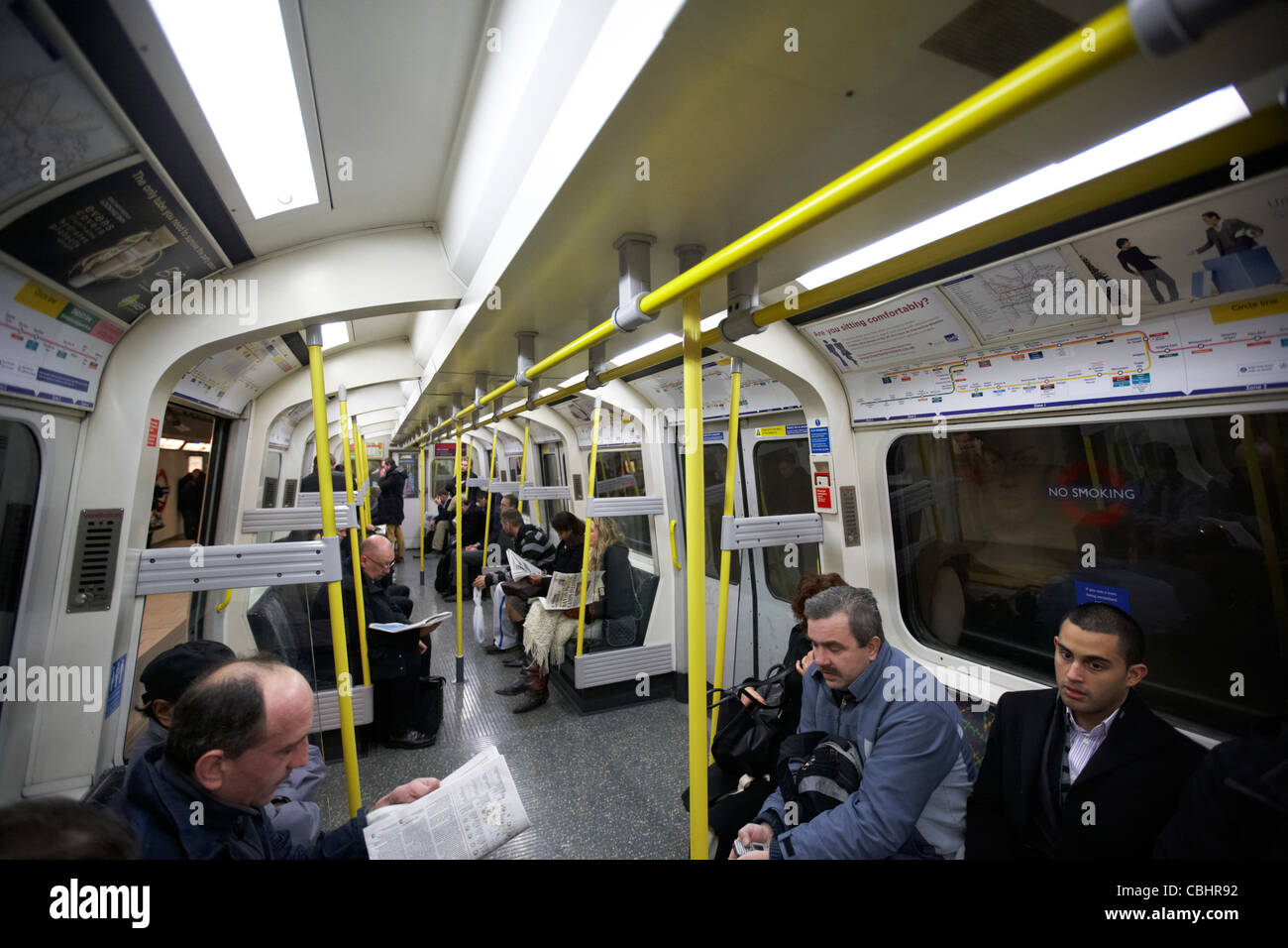 modern new london underground train carriage england united kingdom uk - Stock Image