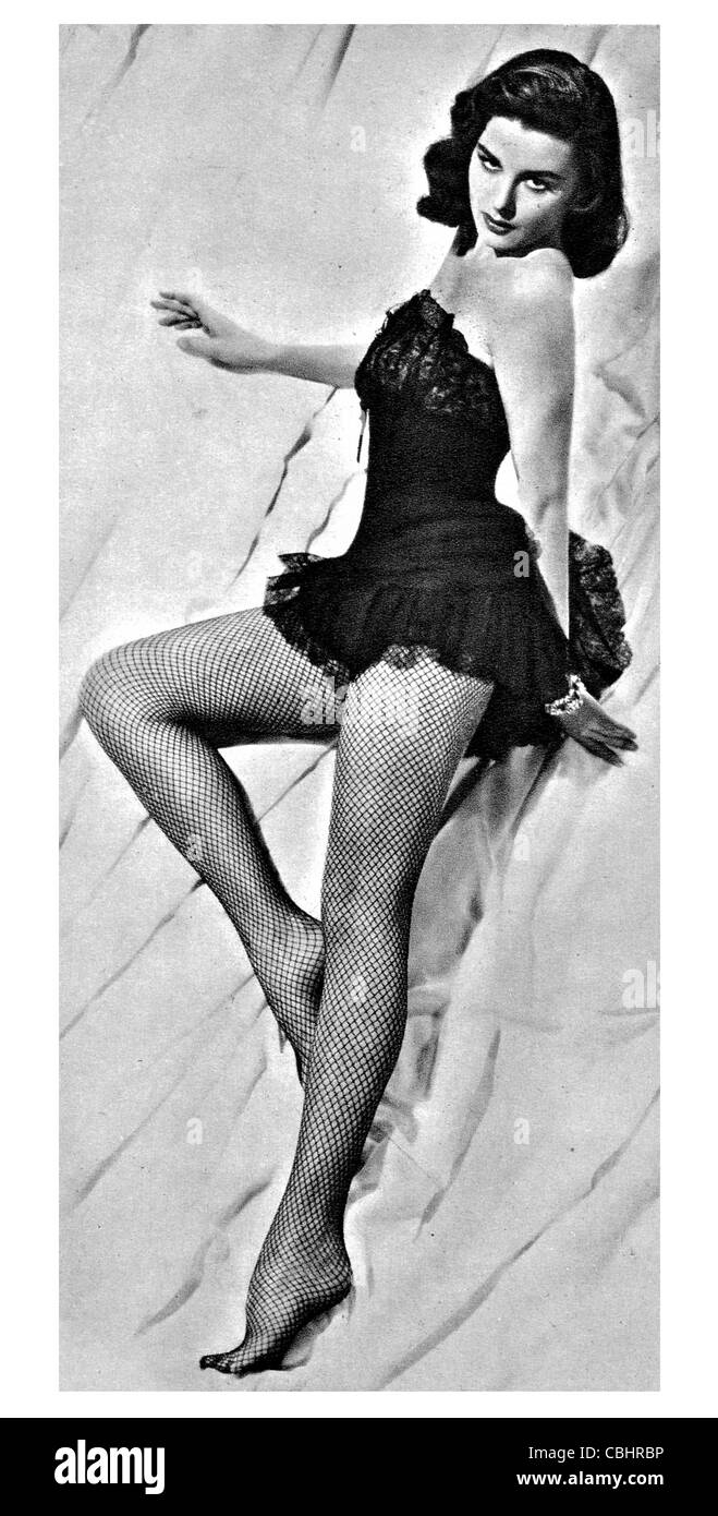 Elaine Stewart 1930 2011 American actress model See Magazine Playboy - Stock Image