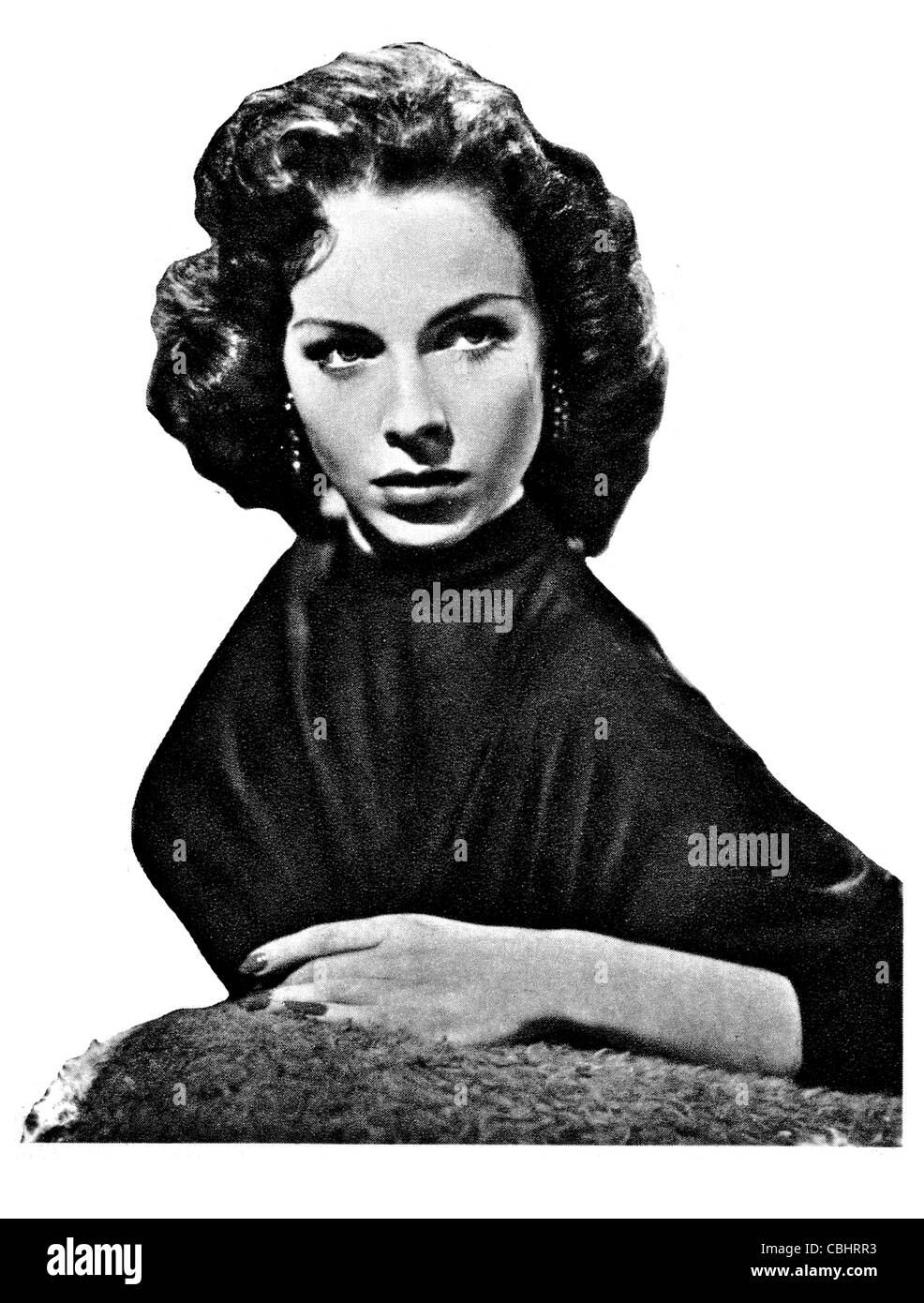 Mara Lane British Austrian actress Film Annual 1945 1955 cinemascope cinema filming movie movies fame celebrity - Stock Image