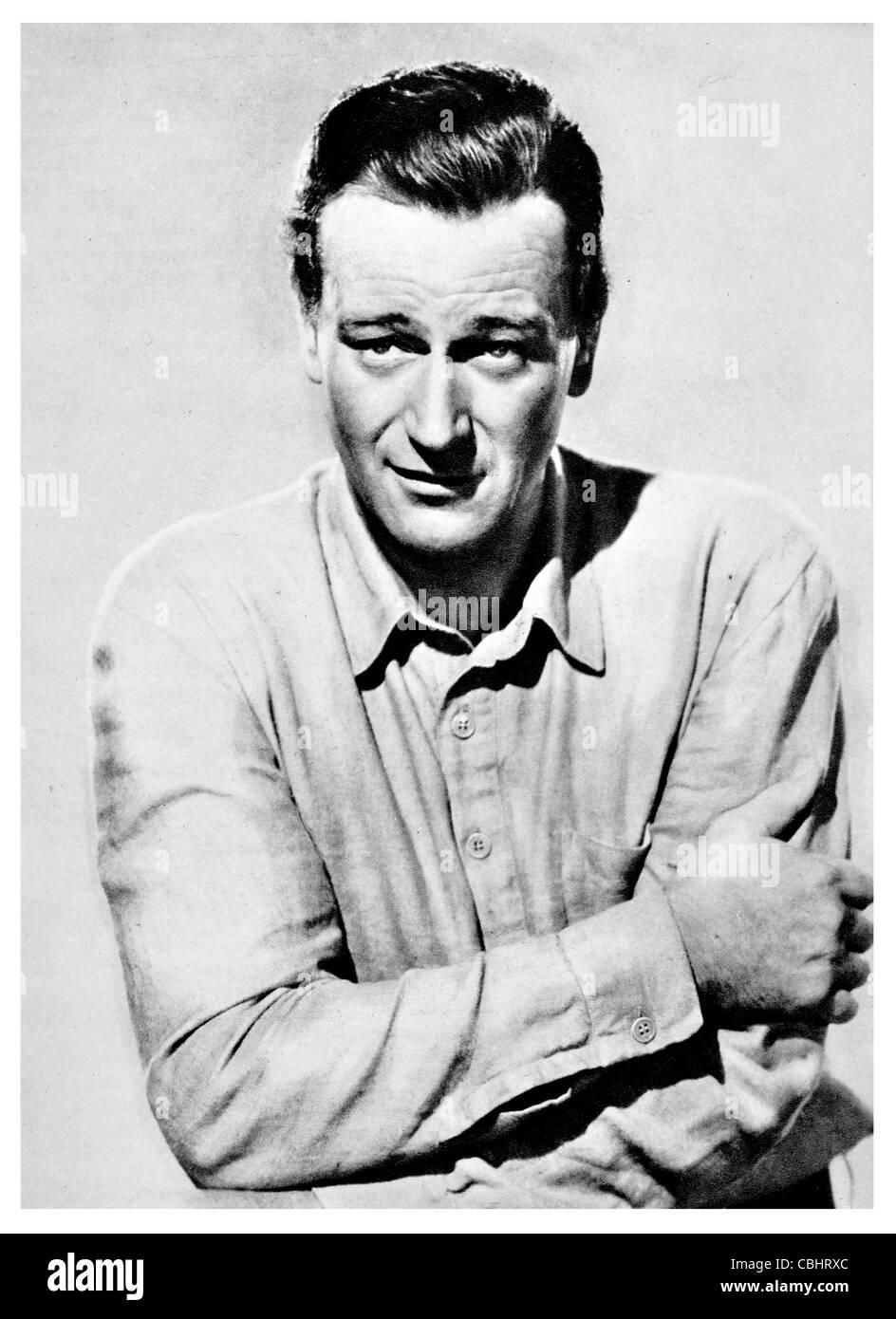 Marion Mitchell Morrison 1907 1979 John Wayne American film actor director producer Academy Award box office Western - Stock Image