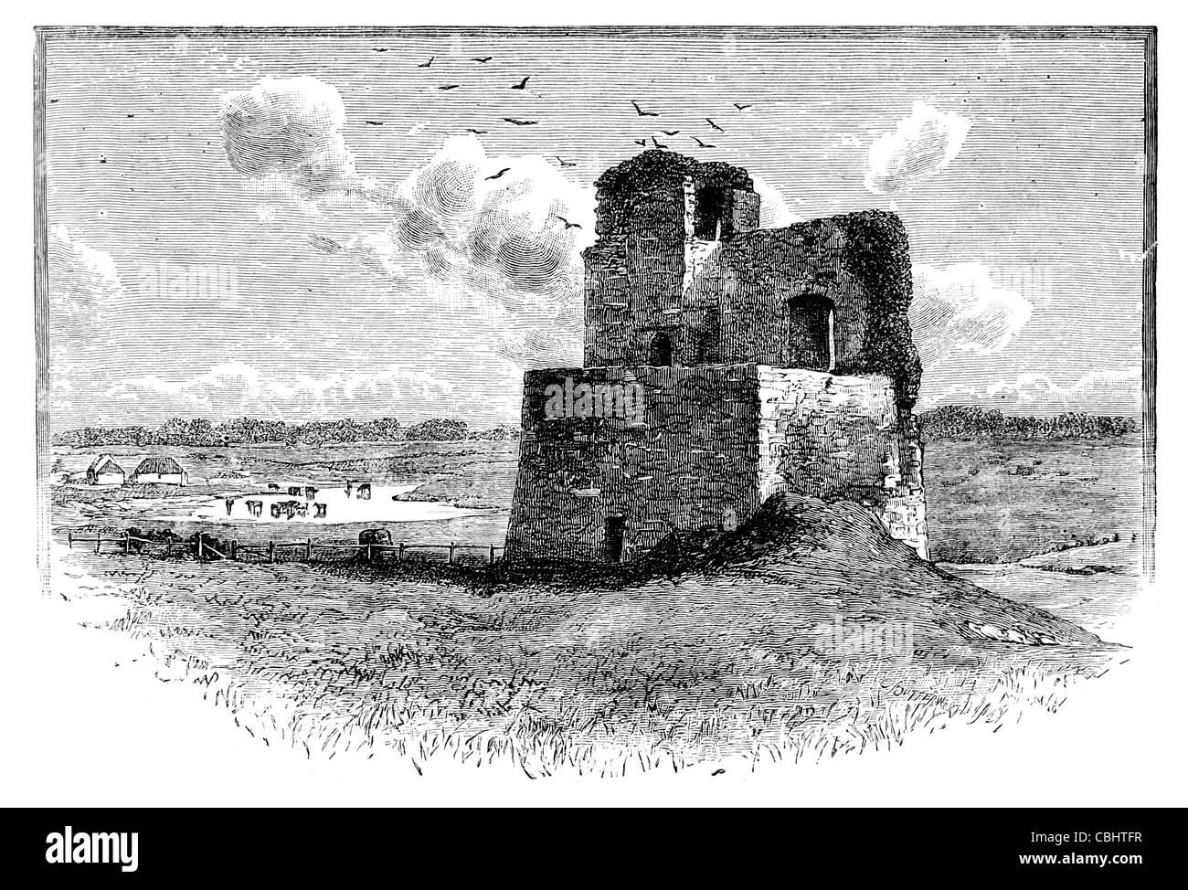 Kilcolman Castle County Cork castles fort  bastion tower  stronghold citadel fastness donjon bastion turret fort - Stock Image