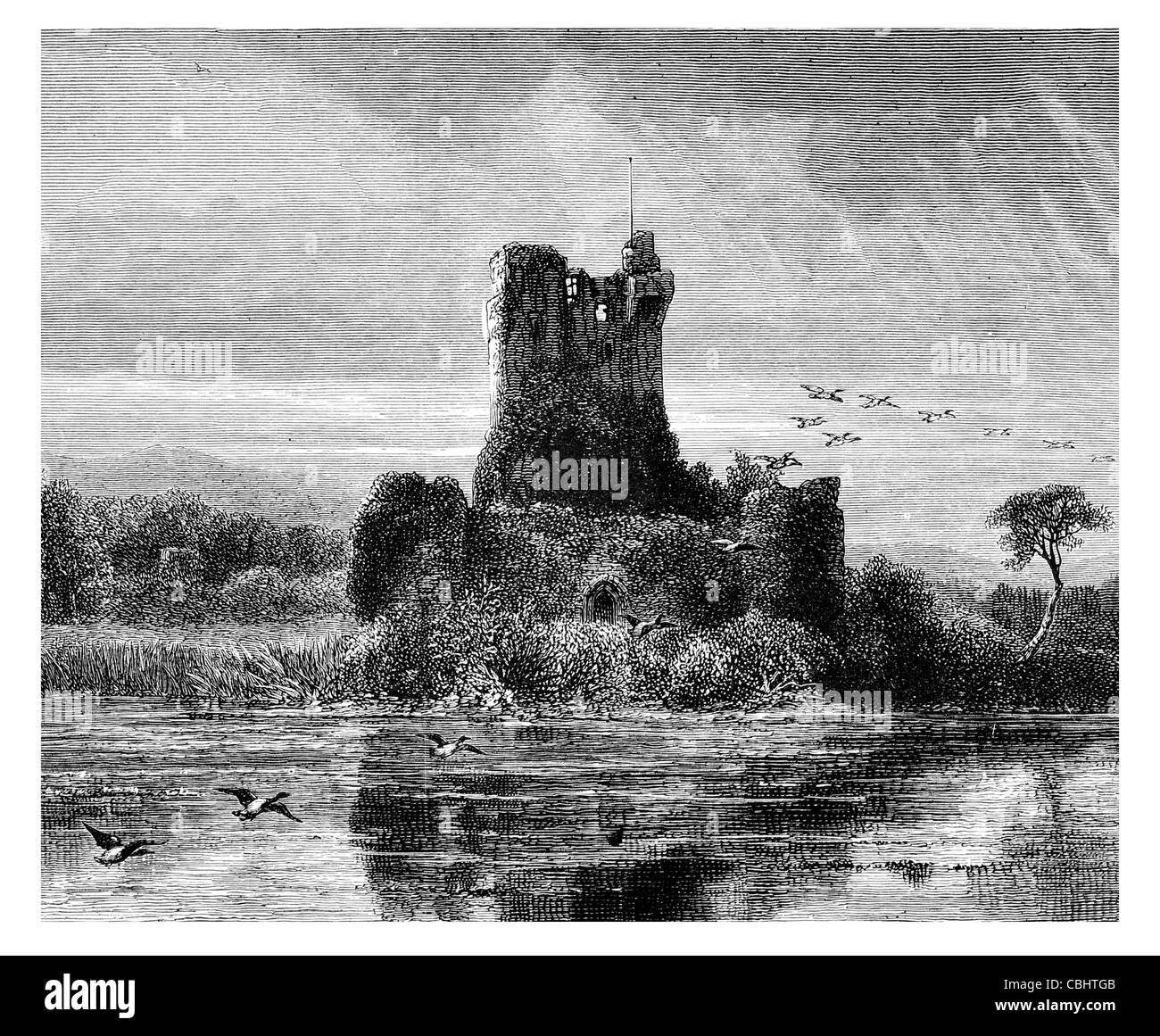 Ross Castle Killarney O'Donoghue clan County Kerry Ireland stronghold Irish tower house - Stock Image