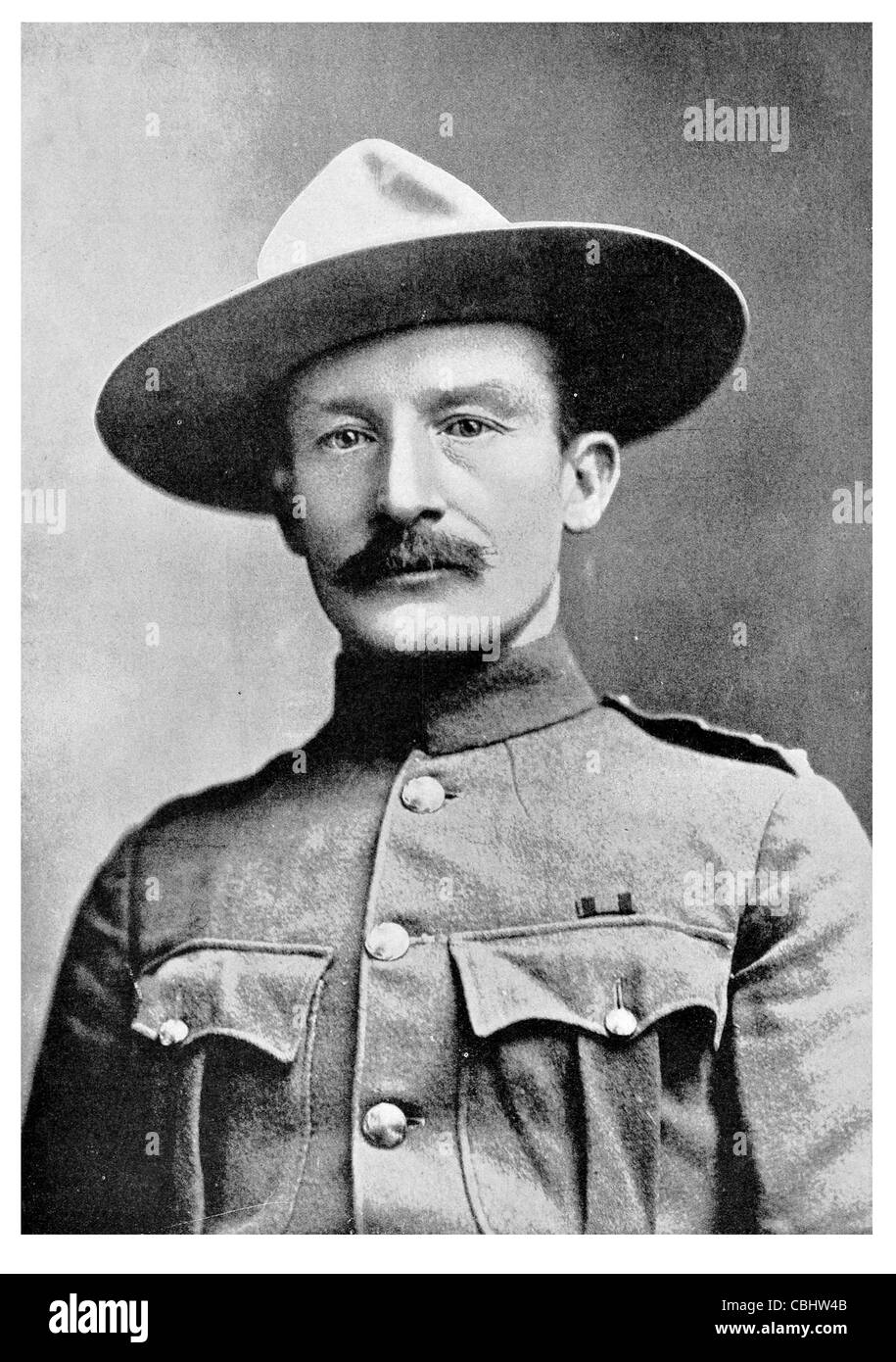 Lord Robert Stephenson Smyth Baden Powell 1st Baron 1857 1941 lieutenant general British Army writer Scout Movement - Stock Image